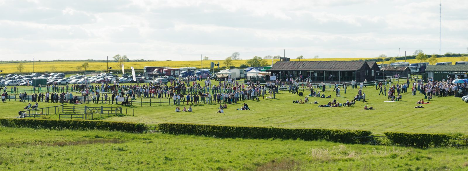 A view of Garthorpe's permanent racing facilities